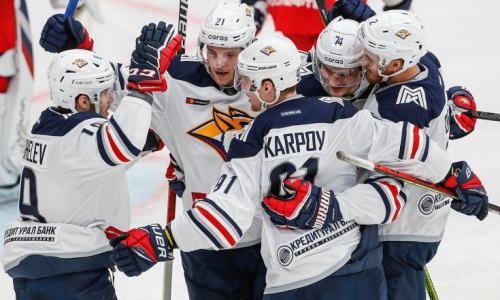 Клуб хоккеистов сборной Казахстана разгромил «Спартак» и выиграл 11-й матч кряду в КХЛ. Видео