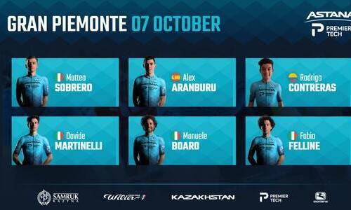 «Астана» объявила состав на однодневку «Гран Пьемонте»