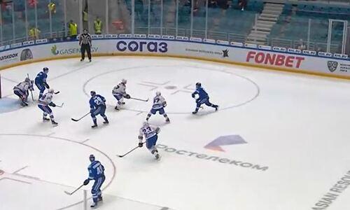 «Барыс» дважды забросил СКА за полторы минуты в матче КХЛ. Видео