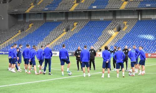 Сборная Боснии и Герцеговины провела первую тренировку на «Астана Арене». Фото
