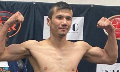 Казахстанский боксер прошел взвешивание перед дебютным боем в США