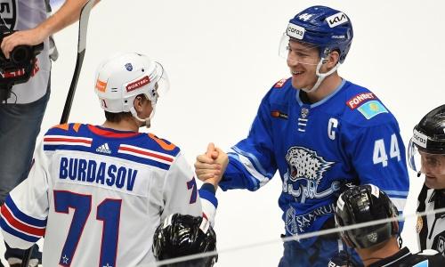 Капитан «Барыса» провел юбилейный матч в КХЛ