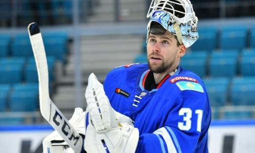 Голкипер «Барыса» стал игроком дня в КХЛ после «сухой» победы над СКА
