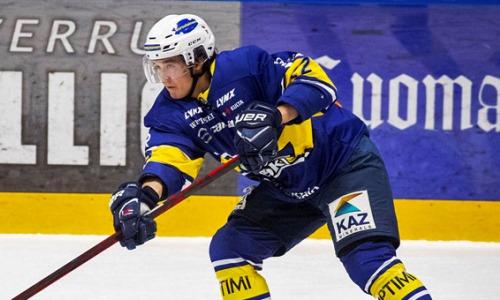 Экс-форвард «Барыса» забросил первую шайбу за финский клуб