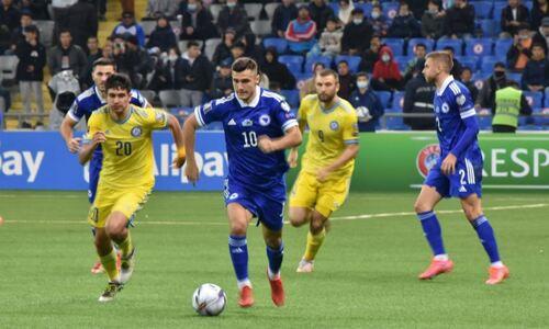 Футболистам сборной Казахстана выставили оценки за проигранный матч Боснии и Герцеговине