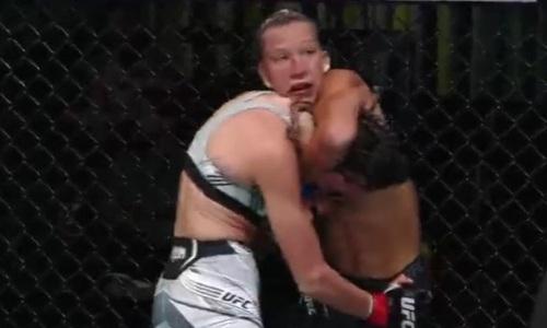 Видео жесткого финиша, или Как Мария Агапова ушатала и задушила «Королеву» в UFC