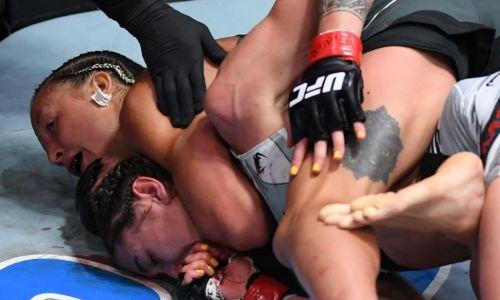 Тотальное избиение и жестокий финиш. Видео третьего боя казахстанки Марии Агаповой в UFC