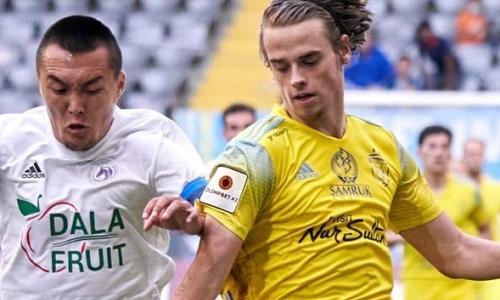 «Астана» в товарищеском матче разгромно обыграла другой казахстанский клуб