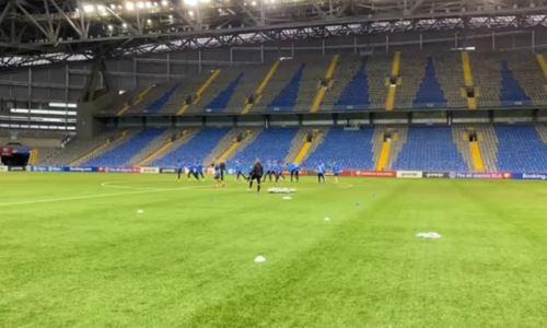 Сборная Финляндии провела тренировку на «Астана Арене». Видео