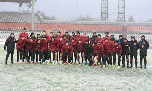 Молодежная сборная Турции провела тренировку в Караганде перед матчем с Казахстаном