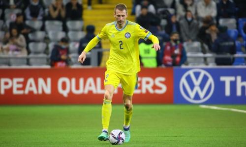 Закончился первый тайм матча Казахстан — Финляндия в отборе на ЧМ-2022