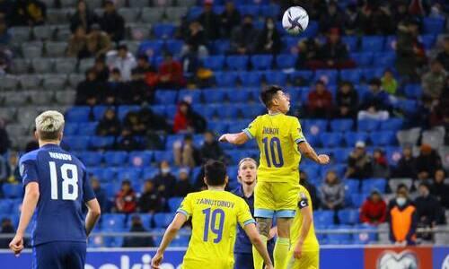 Назван единственный футболист сборной Казахстана, попавший в ТОП-5 участников матча с Финляндией