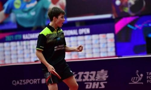 Казахстанец выиграл «золото» международного турнира по настольному теннису в Омане