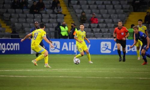 Георгий Жуков провел юбилейный матч за сборную Казахстана