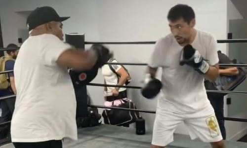 Жанибек Алимханулы показал технику комбинаций перед боем с экс-чемпионом мира. Видео