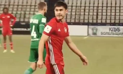 Российский клуб вырвал ничью после удаления казахстанского футболиста