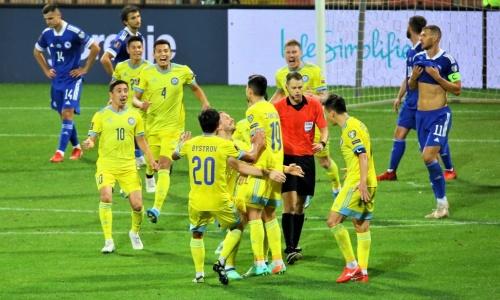 Определен самый грубый футболист сборной Казахстана в отборе на чемпионат мира-2022