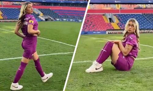 ЦСКА Зайнутдинова отреагировал на скандальный тверк «горячей» красотки на своей арене. Видео