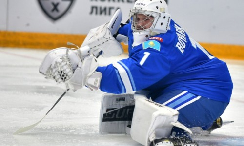 Вратарь сборной Казахстана показал впечатляющую статистику в матче КХЛ